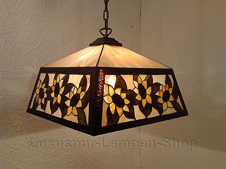 Lampadari E Plafoniere Tiffany : Lampadario a sospensione stile tiffany helia forma rettangolare