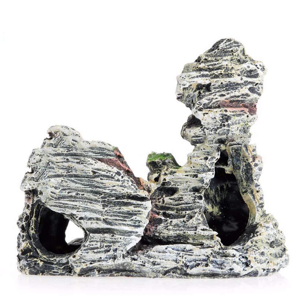 Mioloe Adorno de Acuario Monta/ña Decoraci/ón Tanque de Peces Paisaje Roca Escondite Cueva /Árbol Acuario Decoraci/ón