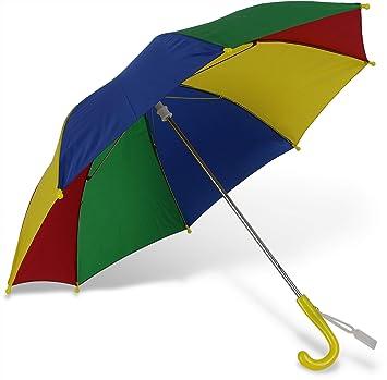 Paraguas para niños multicolor ligera y estable con apertura ...