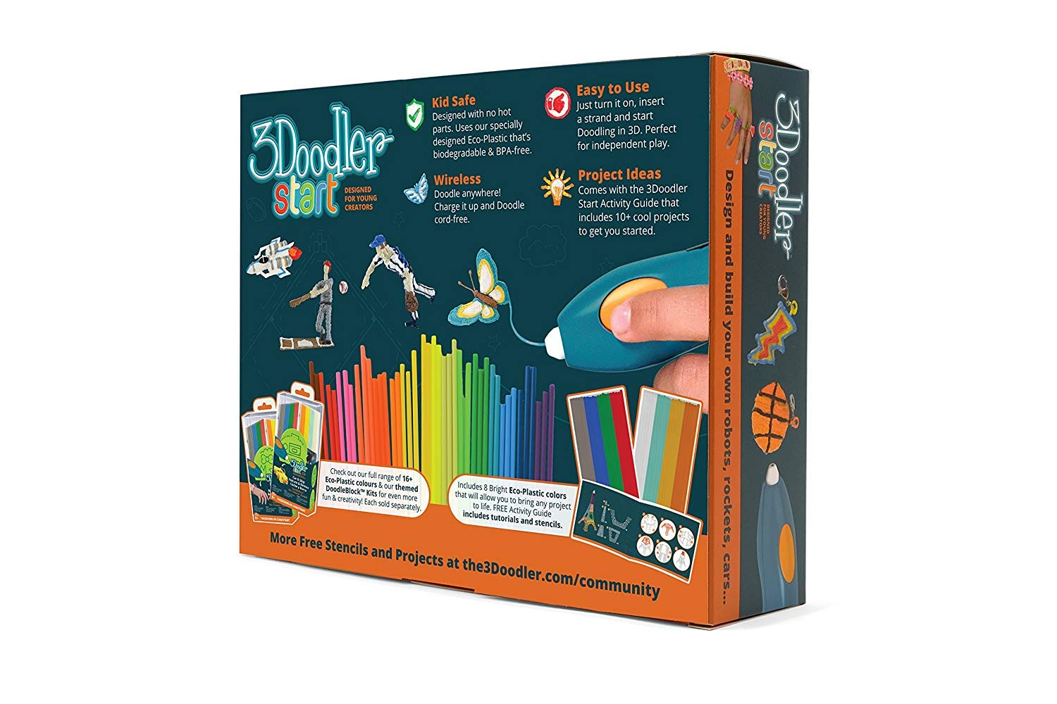 3doodler Start Essentials 3d Pen Set For Kids With Free Amazoncom Diy Circuit Board Plastic Case Samsung Galaxy Note2 Refill Filaments Stem Toy Boys Girls Age 6 Up Of The Year Award Winner
