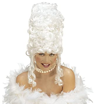 Peluca Marie Antoinette, Blanco, Talla única