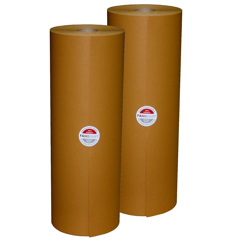 2 Rollen Schrenzpapier Knüllpapier Packpapier FANODUST 50-60g/m² braun