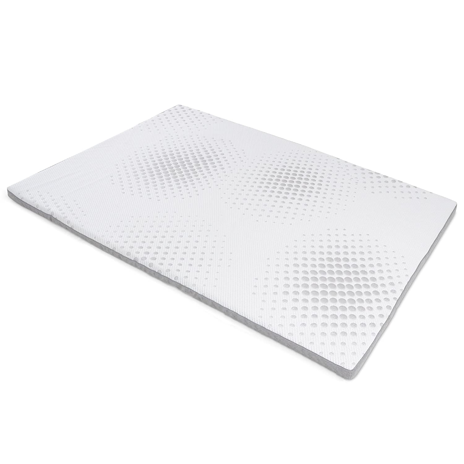 """Milliard 2-Inch Gel Memory Foam Mattress Topper - Featuring a Removable Washable Soft Bamboo Cover - Twin - 73""""x37""""x2"""
