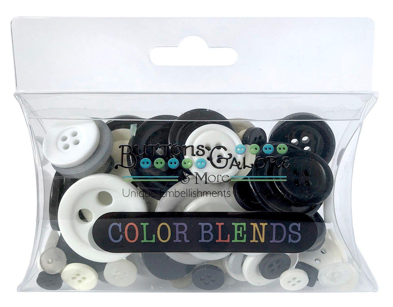 Buttons Galore BGCB113 CB100カラーブレンドボタン、3オンス、クッキー&クリーム、ブラック/ホワイト   B00B5BIFFU
