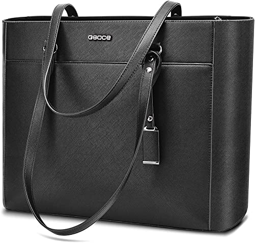 Handbags Up To 15.6 Laptop For Women,OSOCE Office Bags Briefcase,Laptop Tote Case For Women With Charm
