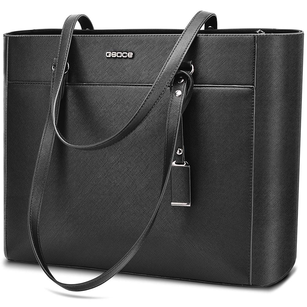 Handbags Up To 15.6 '' Laptop For Women,OSOCE Office Bags Briefcase,Laptop Tote Case For Women With Charm by OSOCE