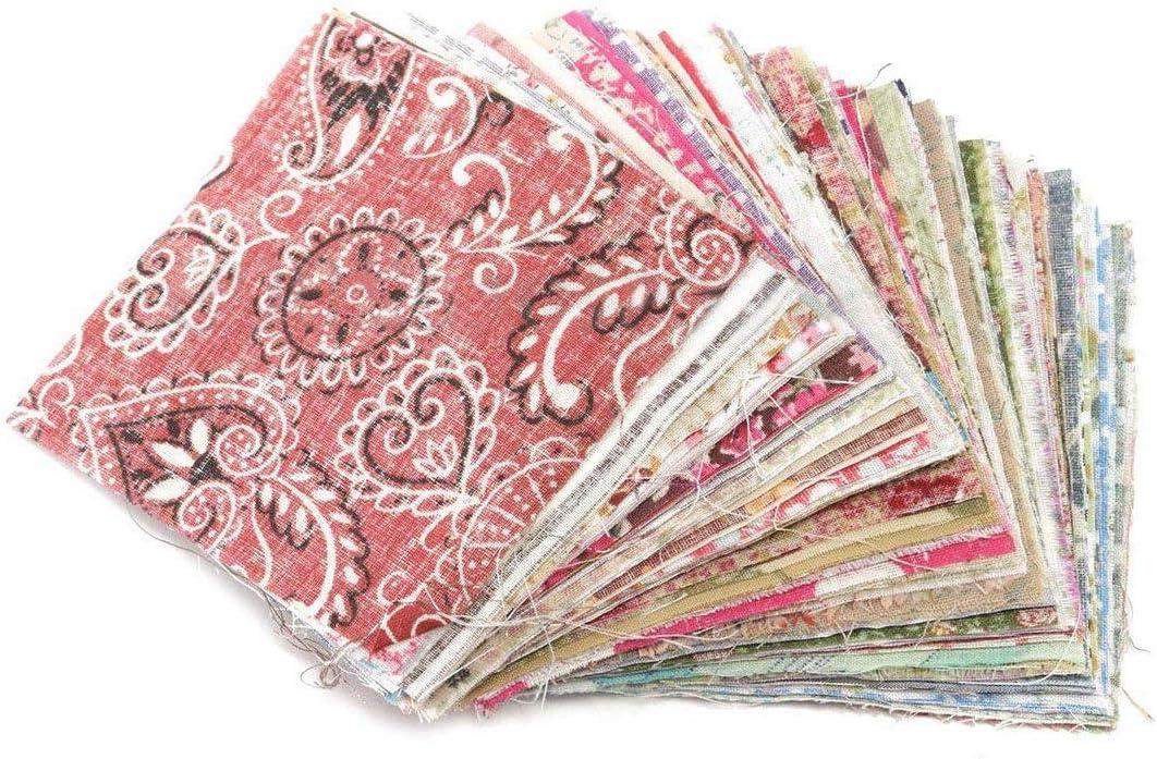 Ogquaton Durable 100 Piezas 10x10 cm Tela de algodón Floral Cuadrado Tela de Retazos para el Arte de Bricolaje Costura: Amazon.es: Hogar