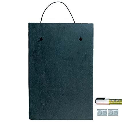 Cohas Slate Art Boards includes Liquid Chalk Marker and 1 Medium 8 by 12  Inch Board, Chisel Tip, White Wet-Wipe Marker