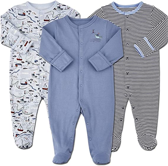 Baby Sleepers Zipper Footed Fleece Two Pack 12 months Red Fireman 16-20 lbs T33