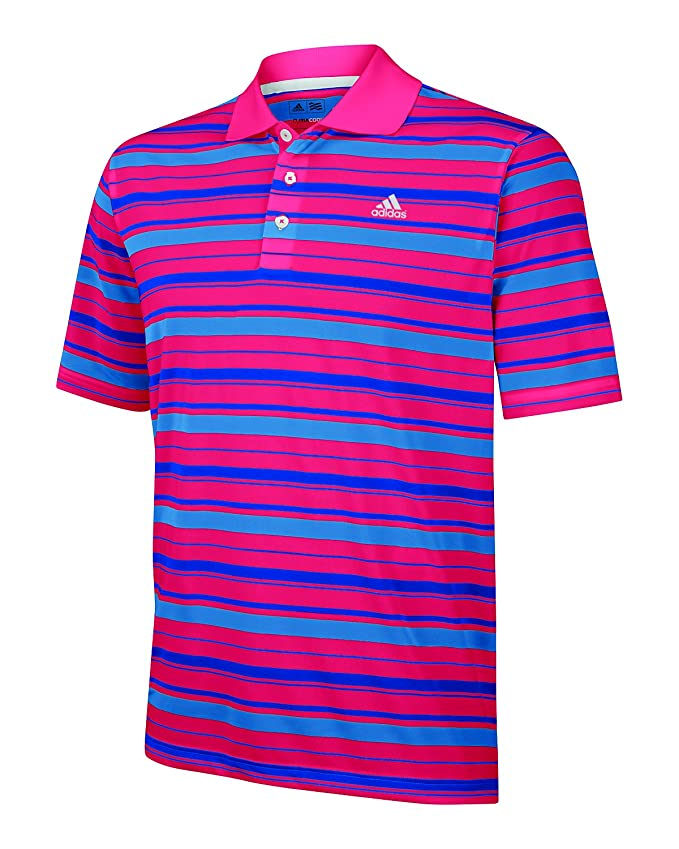 adidas Climalite de Rayas Golf - Polo para Hombre (Manga Corta ...