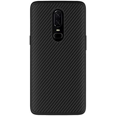 separation shoes 649e0 c1519 Nillkin Oneplus 6 Case, [Carbon Fiber][Compatible With Magnetic Car Holder]  Synthetic Fiber Premium Bumper Case Back Cover for Oneplus 6 Black