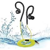Avantree Hippocampus IMPERMEABLE IPX8 Auriculares Intraurales, Almohadillas con Ajuste Seguro para Deportes, Auriculares Submarinos con Aislamiento del Ruido con Sujeción de Oreja con Memoria