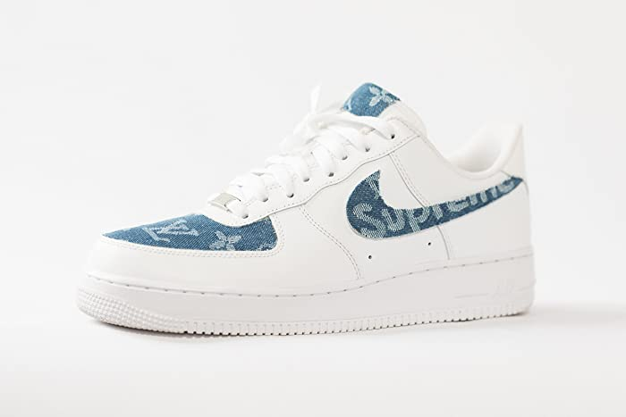d7db49de777c2 Amazon.com: Nike Air Force 1 AF1 Custom LV x Sup Denim Edition ...