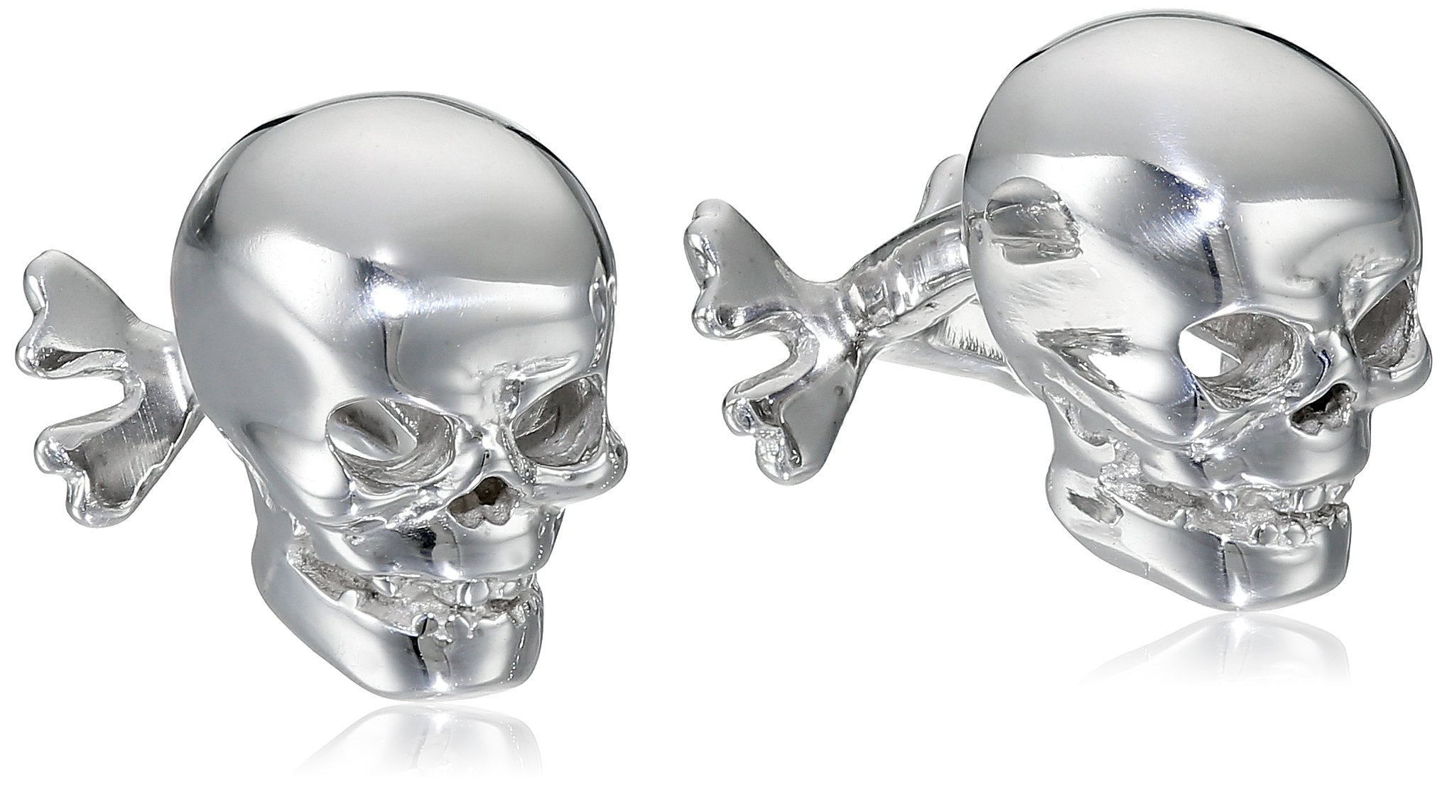ROTENIER ''Novelty'' Sterling Silver Skull and Crossbones Cufflinks by ROTENIER
