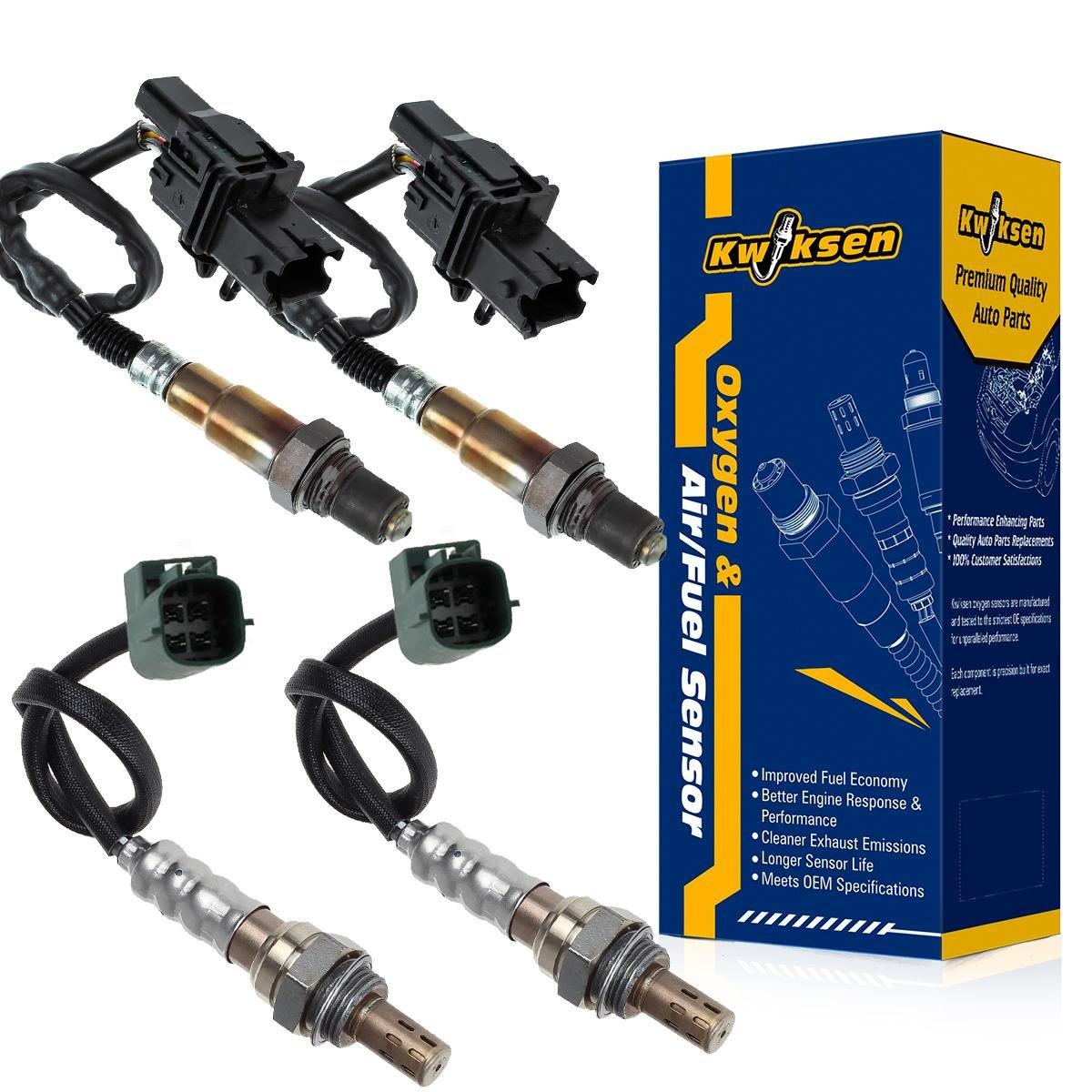 kwiksen heated 4pcs air fuel ratio o2 oxygen sensor 1 sensor 2 upstream  downstream for 2004 2005 2006 2007 2008 nissan maxima 3 5l manual trans  234-5060