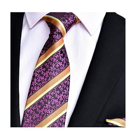 JEAQW Home Corbata de Seda para Hombres Corbata y pañuelo Cuadrado ...