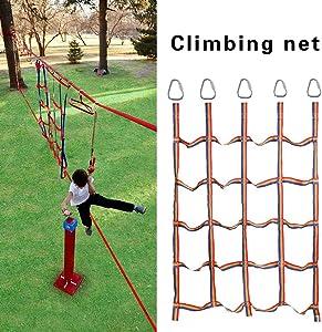 Outdoor Rainbow Ribbon Net Physical Training Ninja Climbing Net for Kids Daily Sports and Entertainment Heavy Duty