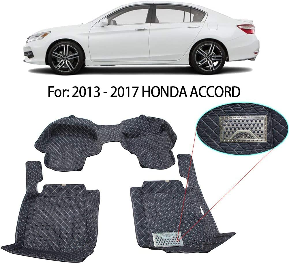 Waterproof-All Weather Protection-Black AWEMAT for Honda Civic 2016-present Model Digital Measured Exquisite Pattern Custom Fit Car Floor Mats for-Large Coverage