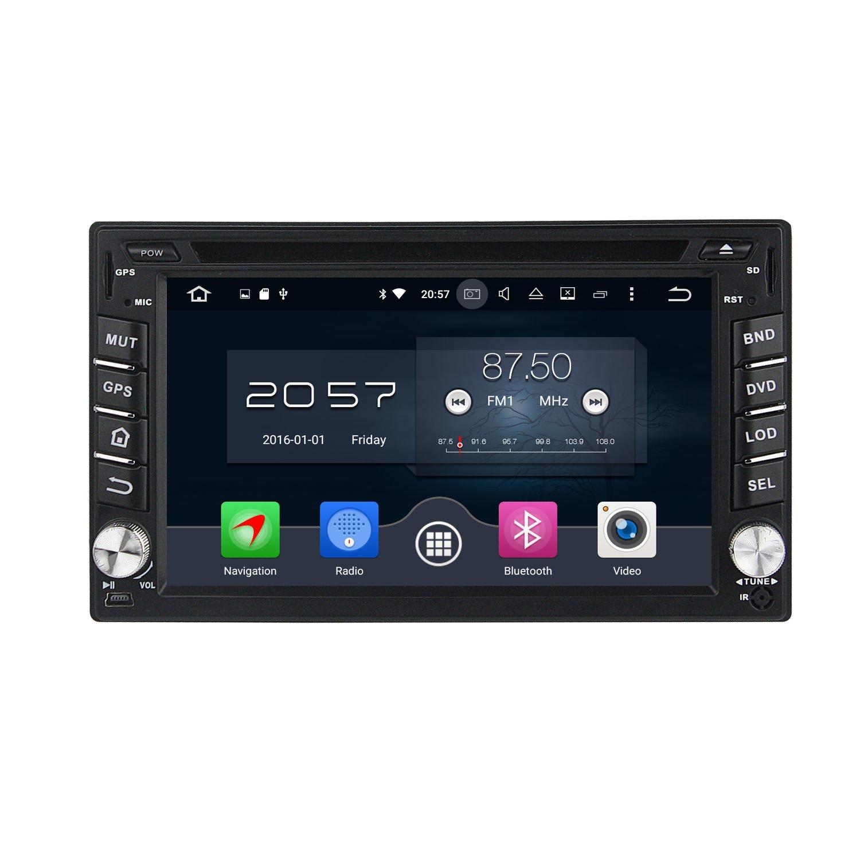 2 Din 6.2 pouces Android 6.0 OS stéréo de voiture pour Nissan Versa 2004 2005 2006 2007 2008 2009 2010,DAB+ radio 800x480 écran tactile capacitif Cortex A53 8 Core 1.5G CPU 2G DDR3 RAM 32G Flash GPS Navi