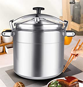 Large-capacity Explosion-proof Commercial Pressure Cooker, 7L-50L Gas Stove General Pressure Cooker, Aluminum Alloy Multifunctional Pressure Cooking Pressure Cooker (Color : Silver, Size : 50L)