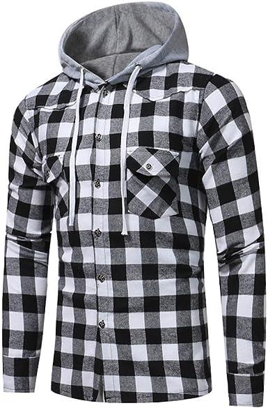 Lenfesh 2017 Invierno Abrigo Manga Larga Hombre Camisa Sudadera Moda Sudadera con Capucha: Amazon.es: Ropa y accesorios
