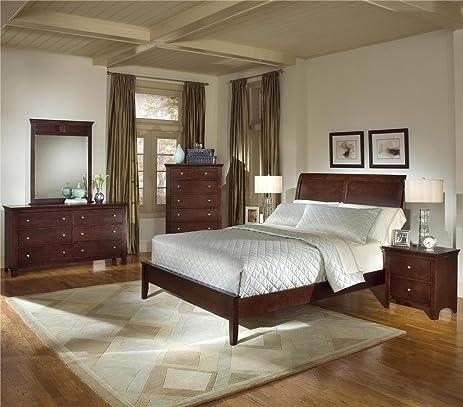 Amazon.com: Roundhill Furniture Le Charmel 5-Piece Low Profile ...