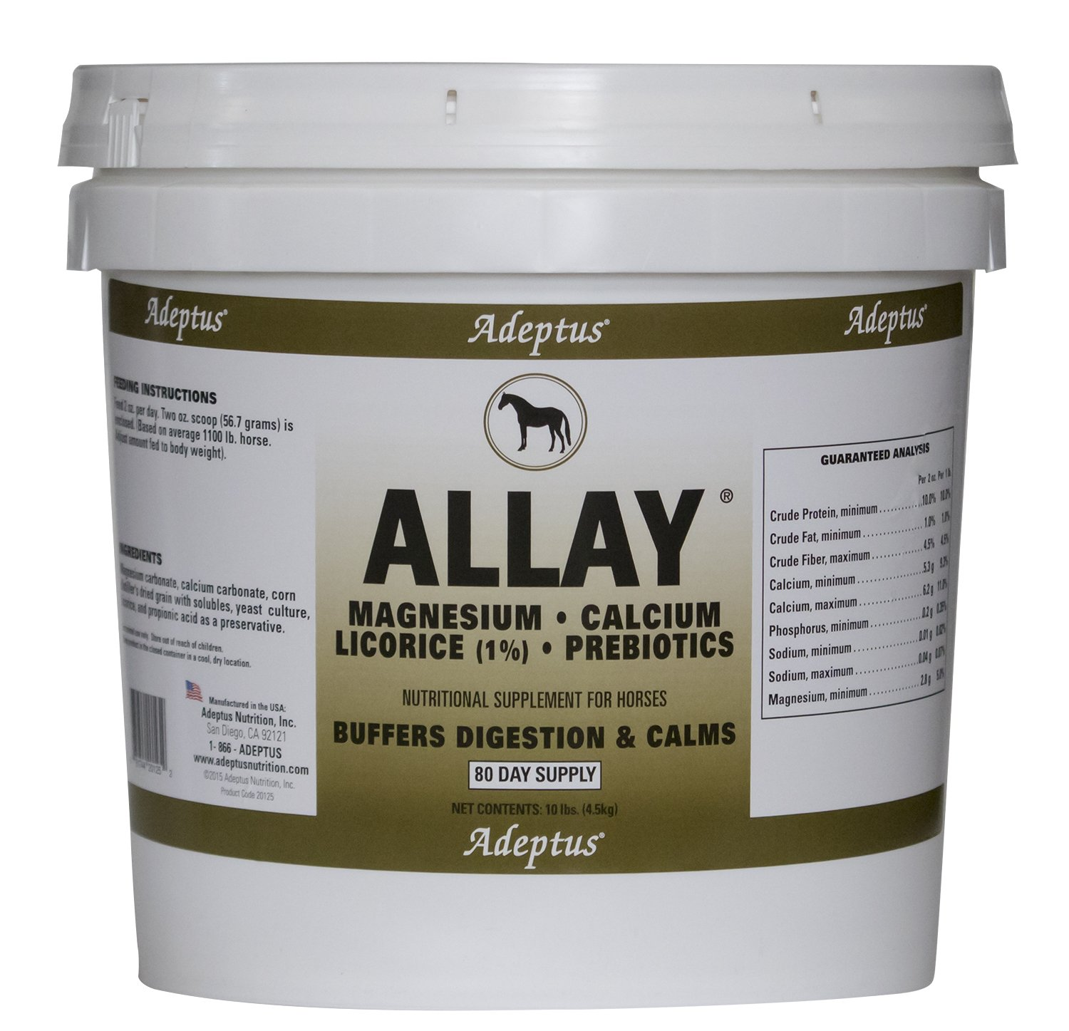 Adeptus Nutrition Allay EQ Joint Supplements, 10 lb./10 x 10 x 10 by Adeptus Nutrition