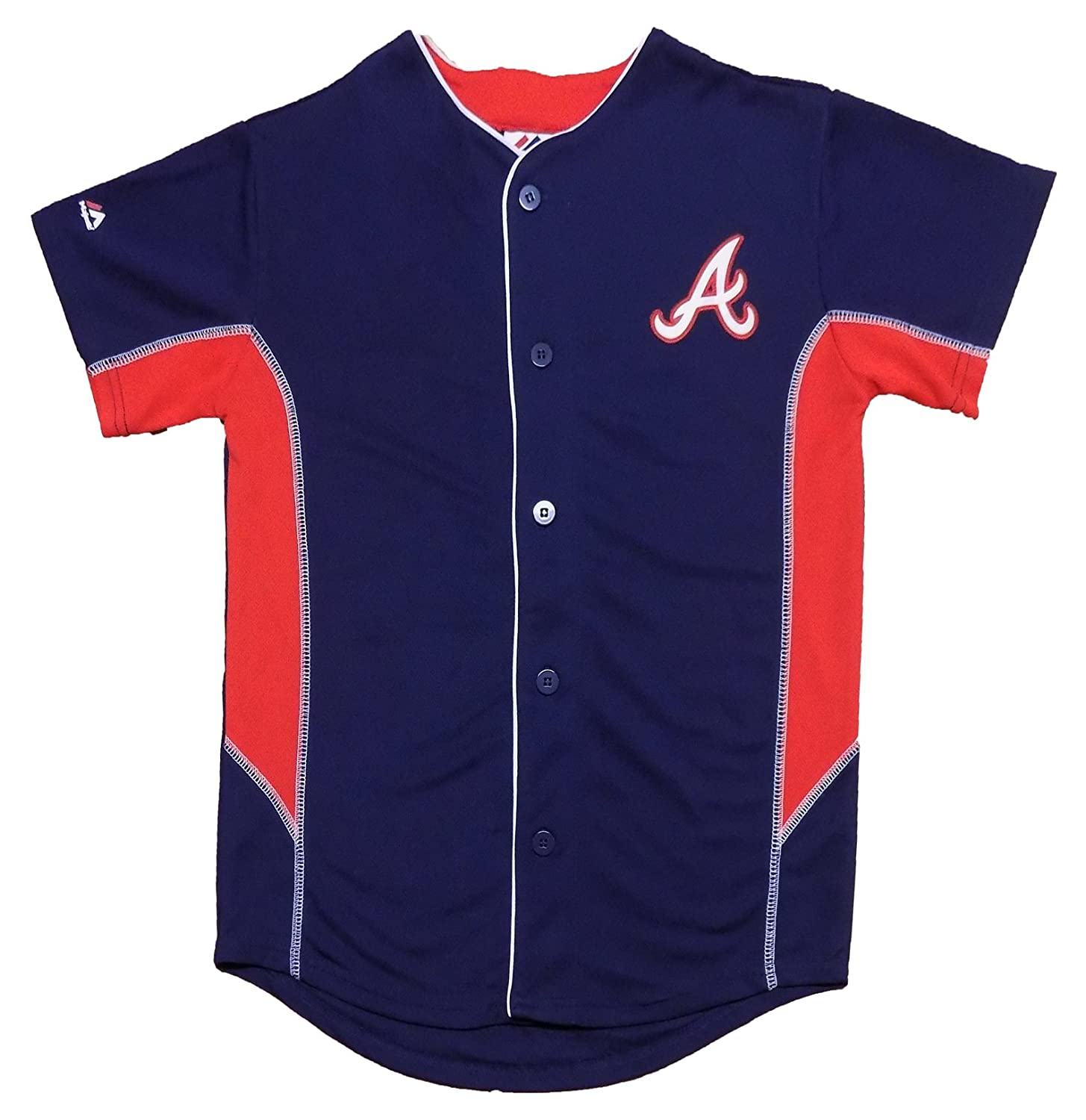 6f1d7632899 OuterStuff Atlanta Braves Blank Navy Blue Youth Team Leader Jersey ...