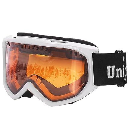 Unigear Ski Goggles Anti Fog Snow Snowboard OTG 100 UV Protection For
