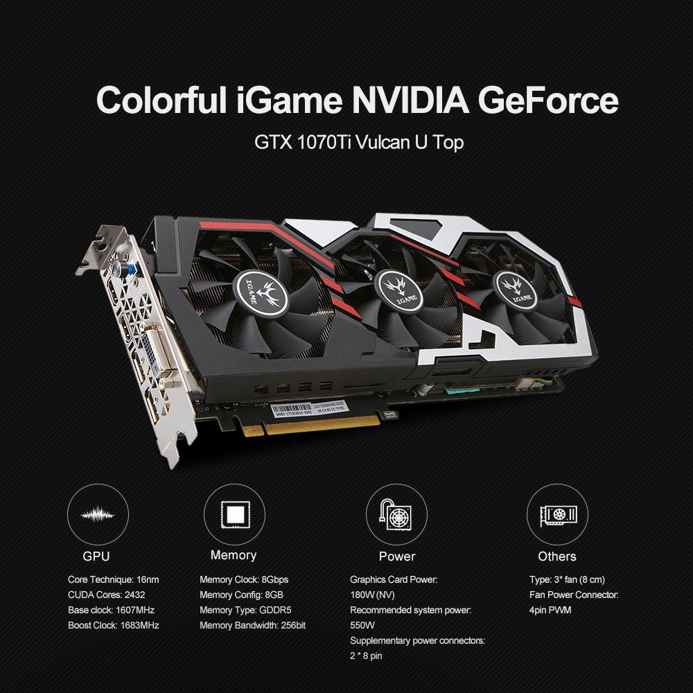 Docooler Colorido iGame Tarjeta gráfica NVIDIA GeForce GTX ...