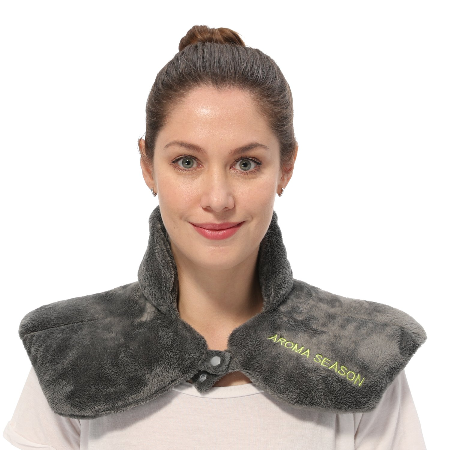 Aroma Season Instant Pain Relief Neck and Shoulder Wrap, Aromatherapy Heated Neck Pillow, Grain Pad, Soothing Aches and Tension, Migraine, Headache, Injures, Arthritis.