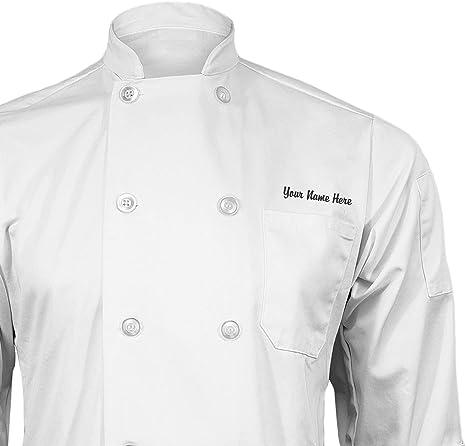 ChefsCloset Unisex Long Sleeve Button Black Chef Jacket Large Chef Coat