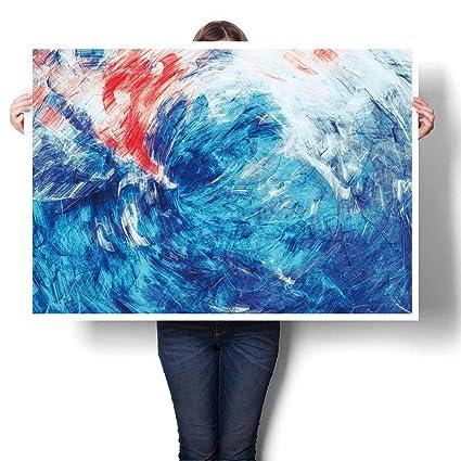 Amazon Com Scocici1588 Canvas Print Wall Art Blue Sea Wave