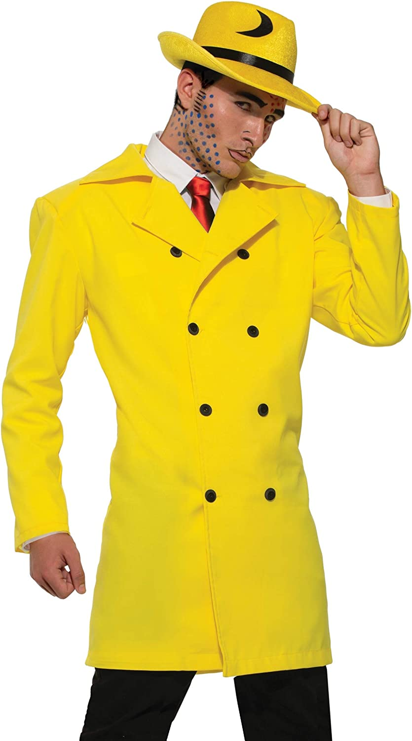 Pop Art Gangster Yellow Jacket Dick Tracy  Mens  Adult Costume Standard Size