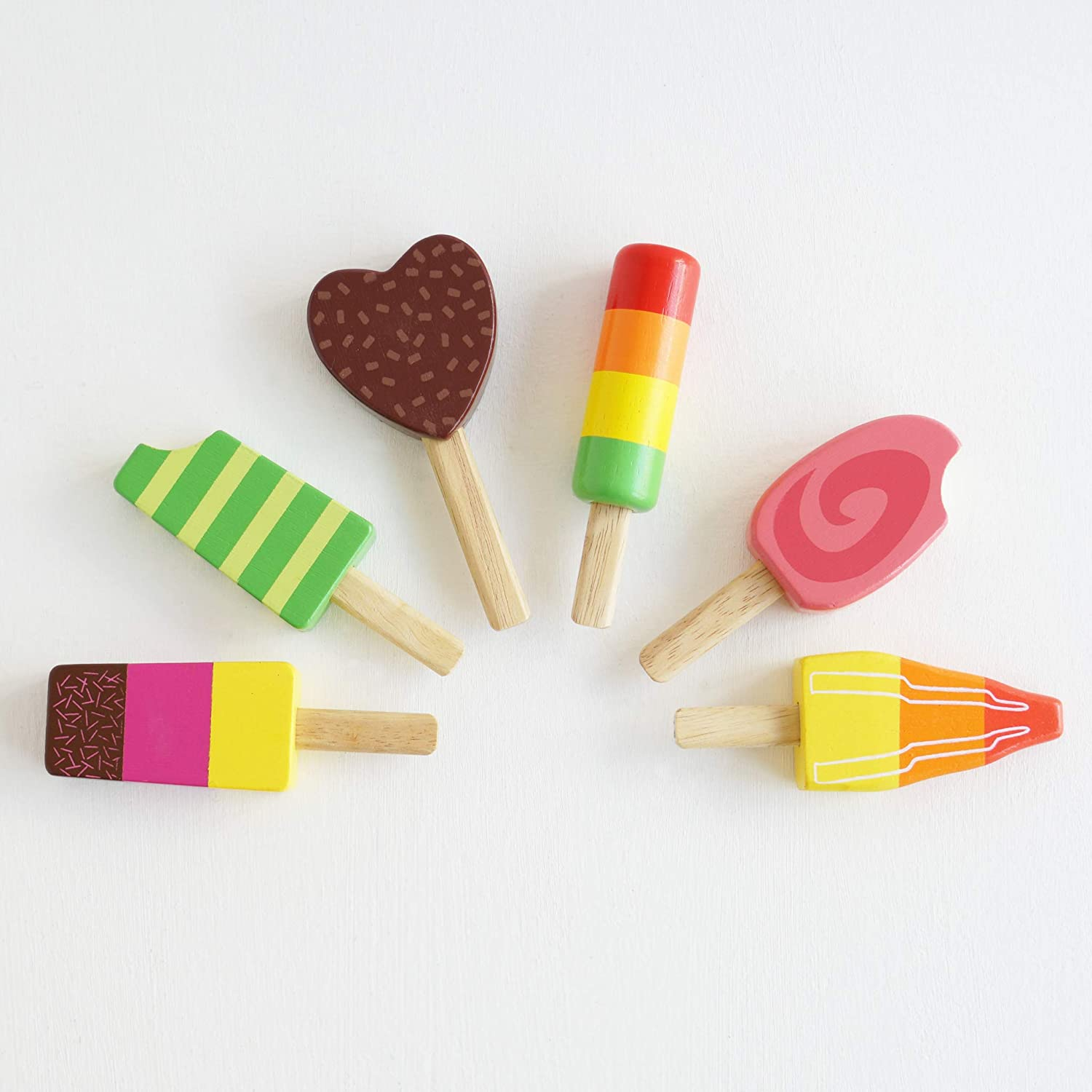 Le Toy Van Honeybake Collection Ice Lollies Set Premium Wooden Toys for Kids Ages 3 Years /& Up