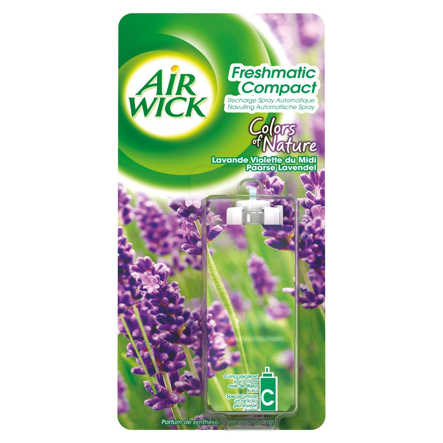 Air Wick Air Freshener Refill For Freshmatic Compact Lavender 24 Ml