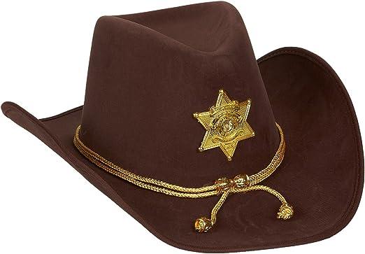 Sombrero de vaquero de fieltro, disfraz de fiesta con trenza de ...