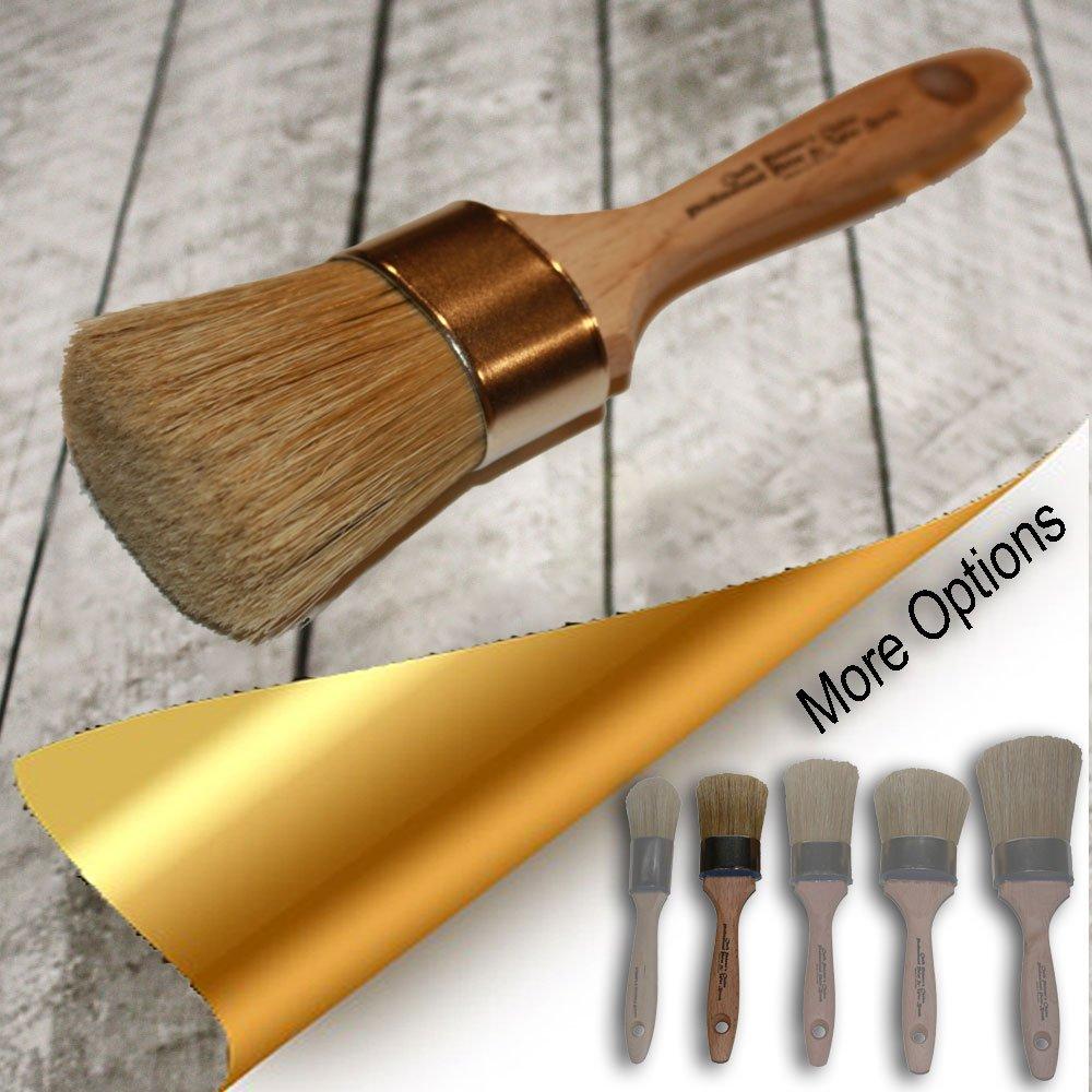 Chalk Painter's Choice-LG Oval Professional Paint & Wax Brush {O15}