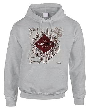 Sudadera con capucha con diseño del Mapa del Merodeador del Colegio Hogwarts de Magia y Hechicería