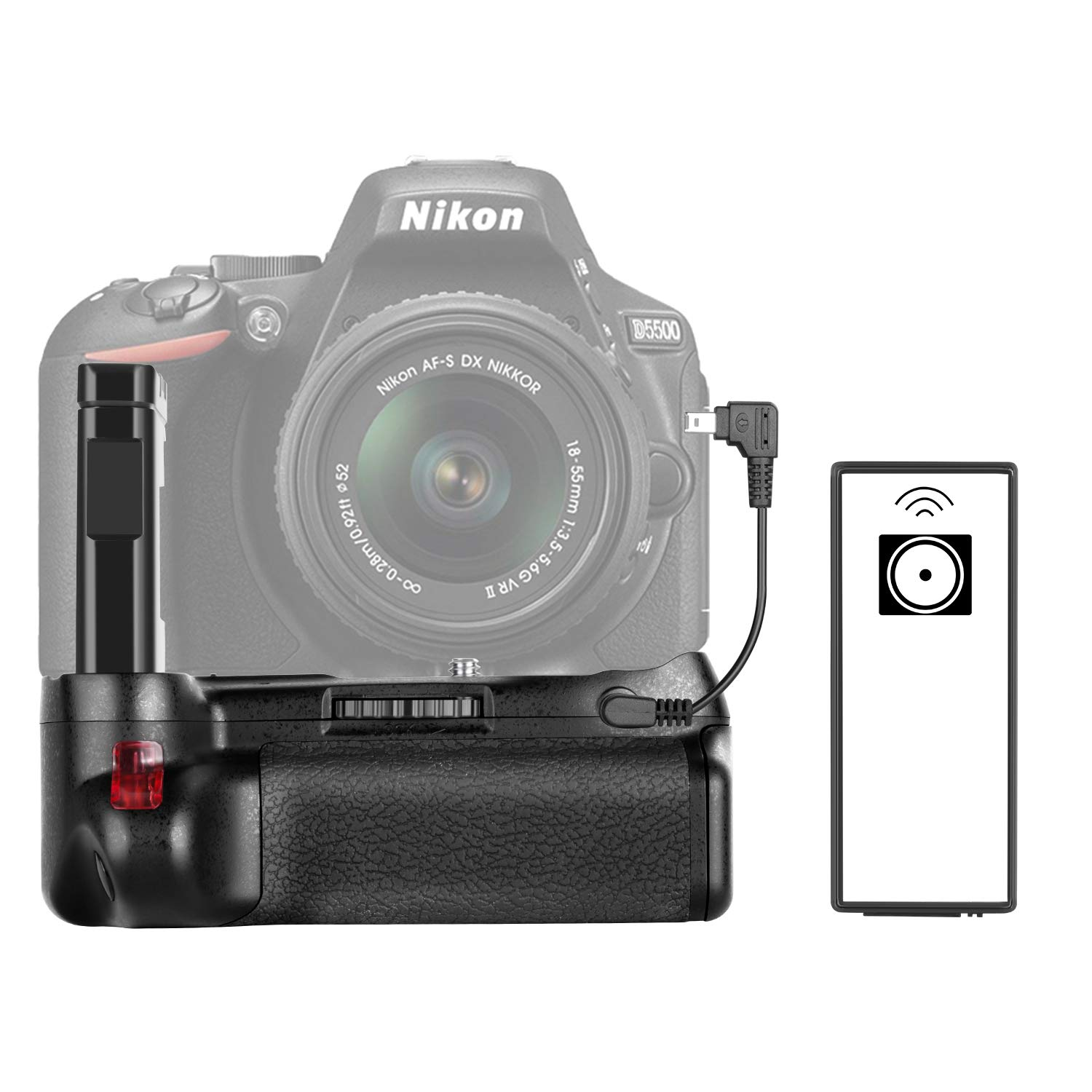 Neewer Professional Vertical Battery Grip Work with EN-EL14A Rechargeable Battery for Nikon D5600 and D5500 DSLR Camera (Battery Not Included) by Neewer