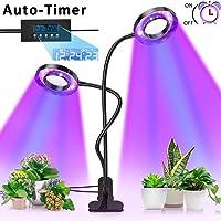 Pflanzenlampe, Pflanzenlicht mit UPGRADED Automatische Zeitschaltuhr, Lovebay 18W Rot Blau Dimmbar Schwanenhals UV Grow Led Wachsen licht Pflanzenleuchte Wachstumslampe Lampe für Bonsais Pflanzen