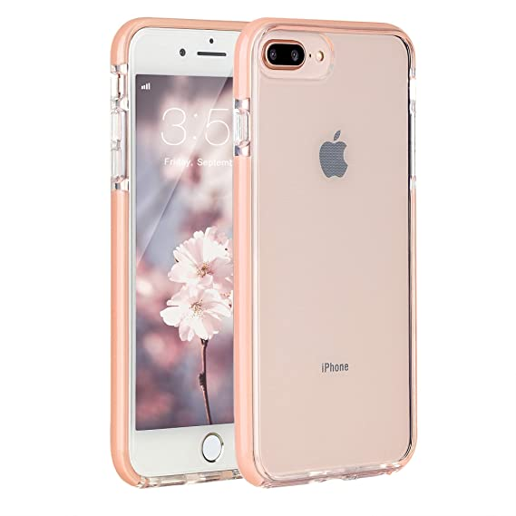 buy online a803d 3ba58 Sunluma Compatible iPhone 7 Plus Case, iPhone 8 Plus Case, Clear  Transparent Back Silicone Soft Rubber Bumper Shockproof Anti-Scratch  Protection Cover ...