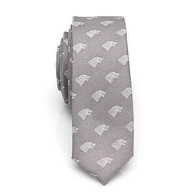 14edfc18dd30 Game of Thrones Stark Direwolf Gray Men's Skinny Tie, Officially ...