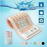 Alinshi Soft Foldable Silicone Wired USB Waterproof Keyboard (Orange)