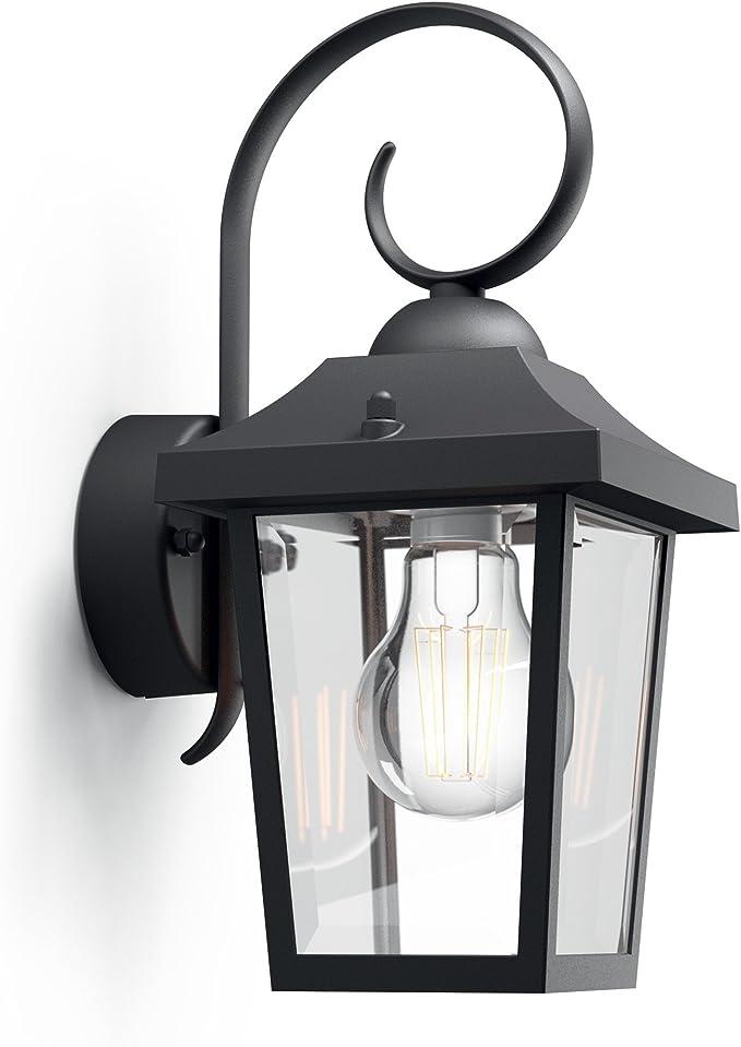 DEL rétro extérieur éclairage maison mur Filament Lampe jardin variateur Lanterne Blanc Or