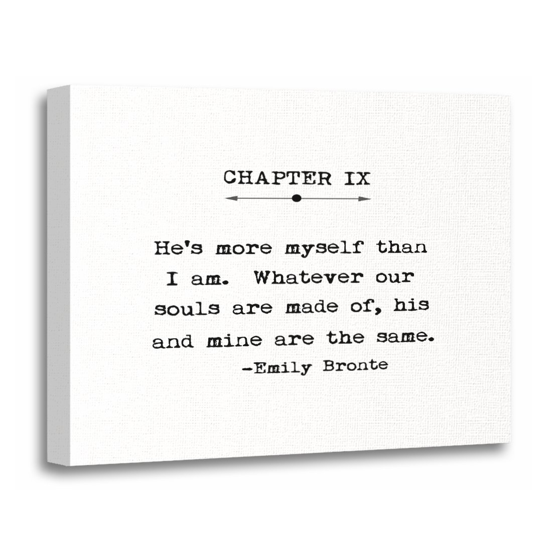 Amazon Torass Canvas Wall Art Print Forever Emily Bronte Quote