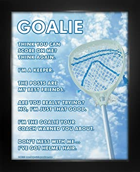 Enmarcado Portero de Lacrosse Sky 8