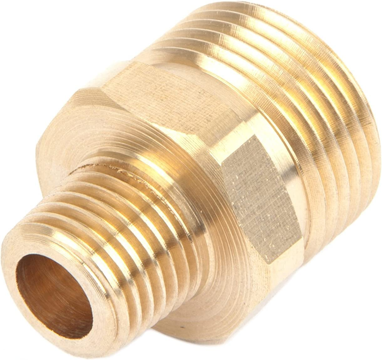"Pressure Washer Fitting Adapter Connector Plug 22mm Male X 1//4/"" Male NPT"