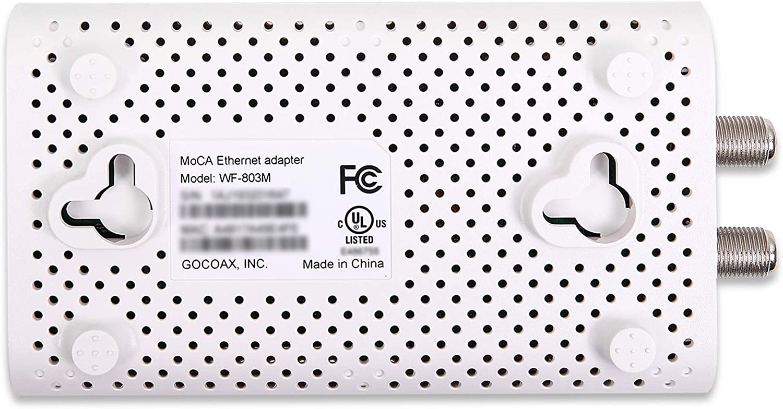 2.5Gbps Ethernet Over Coax MoCA 2.5 White 1xGbE Port goCoax MoCA Adapter WF-803M