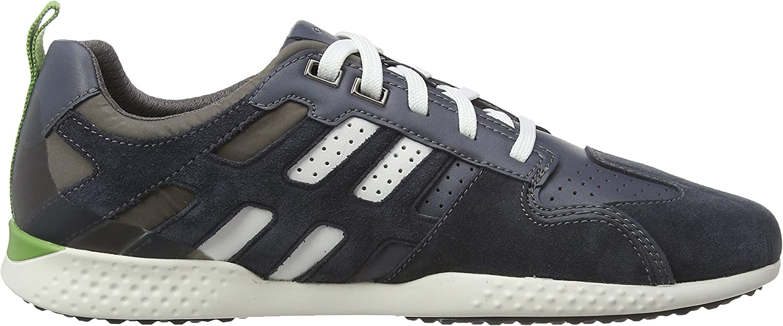 Geox U Snake.2 A, Sneakers Basses Homme Bleu Dk Avio Stone C4k9m
